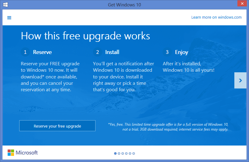 windows 10 upgrades