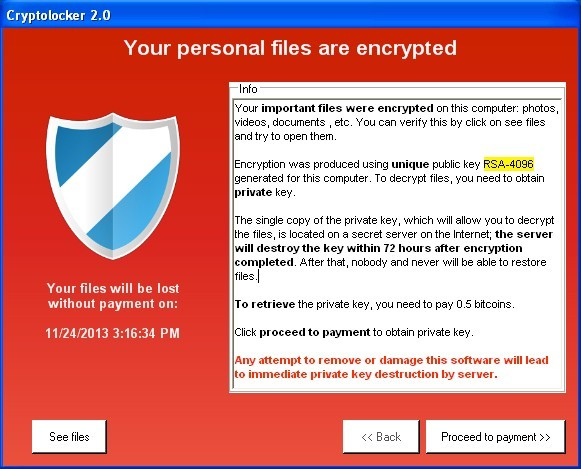 Cryptolocker Removal and file recovery